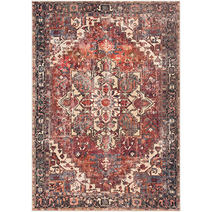 Amelie Rust and Butter Rectangular: 5 Ft. 3 In. x 7 Ft. 3 In. Rug