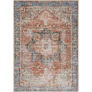Amelie Clay and Denim Rectangular: 5 Ft. 3 In. x 7 Ft. 3 In. Rug