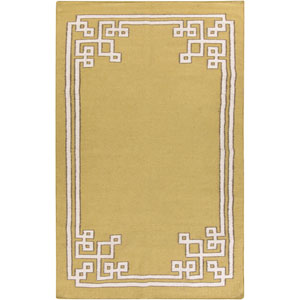 Alameda Split Pea and Ivory Rectangular: 5 Ft. x 8 Ft. Rug