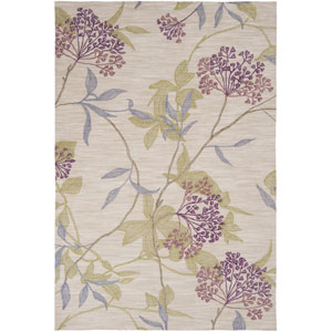 Amelia Ivory and Green Rectangular: 5 ft. x 7 ft. 6 in. Rug