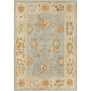 Amelie Aqua and Butter Rectangular: 7 Ft. 10 In. x 10 Ft. 3 In. Rug