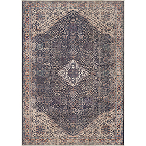 Amelie Eggplant and Butter Rectangular: 2 Ft. x 3 Ft. Rug