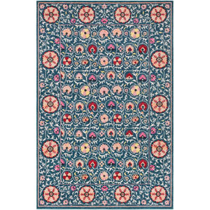 Anika Blue Rectangle: 5 Ft. 3 In. x 7 Ft. 3 In. Rug
