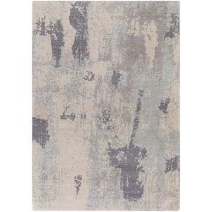 Andromeda Neutral and Blue Rectangular: 2 Ft. x 2 Ft. 9-Inch Rug