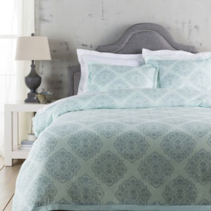 Anniston Aqua Twin Bed Skirt