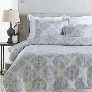 Anniston Slate Twin Duvet Set