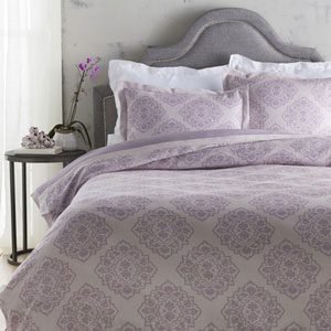 Anniston Plum Twin Duvet Set