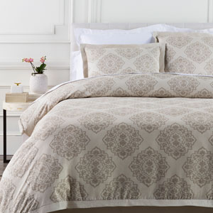 Anniston Neutral Three-Piece Full/Queen Duvet Set
