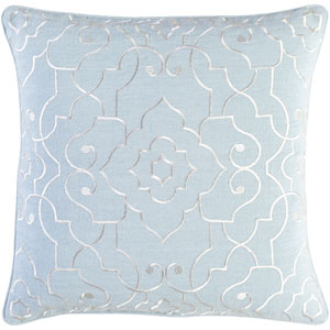Adagio Gray and Neutral 20-Inch Pillow with Down Fill