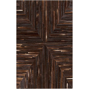 Appalachian Chocolate and Black Rectangular: 2 Ft x 3 Ft Rug