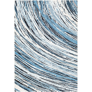 Apricity Blue and White Rectangular: 2 Ft. x 3 Ft. Rug