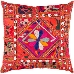 Karma Red and Orange 22-Inch Pillow Cover