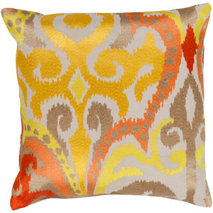 Ara Yellow and Orange 18-Inch Pillow Cover