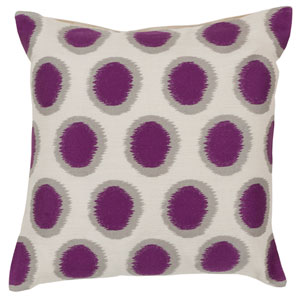 Papyrus, African Violet and Blue Corn Down Filled 22 x 22  Pillow