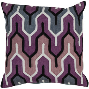 Aztec Blue and Purple 18-Inch Pillow Cover