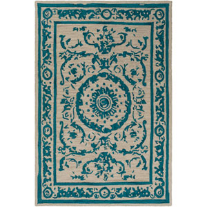 Armelle Teal and Tan Rectangular: 5 Ft. x 7 Ft. 6 In. Rug
