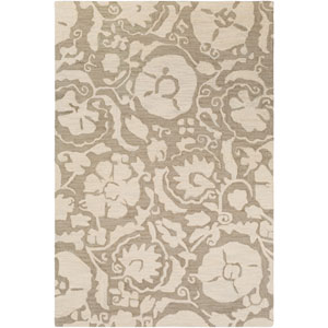 Armelle Taupe and Cream Rectangular: 8 Ft. x 10 Ft. Rug