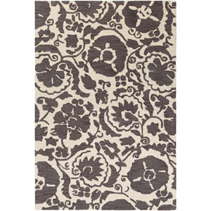Armelle Charcoal and Cream Rectangular: 2 Ft. x 3 Ft. Rug