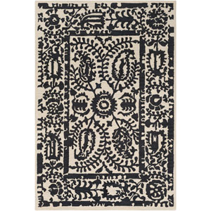 Armelle Black and Cream Rectangular: 5 Ft. x 7 Ft. 6 In. Rug