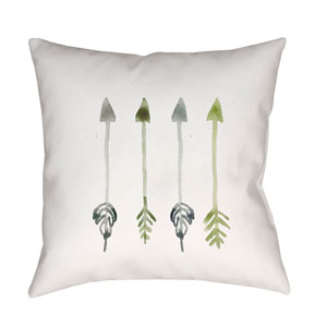 Arrows White and Green 18 x 18-Inch Throw Pillow
