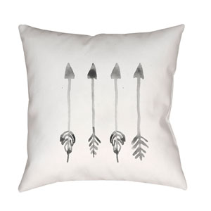 Arrows White and Gray 18 x 18-Inch Throw Pillow