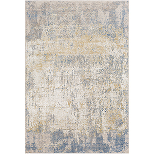 Aisha Camel and Sky Blue Rectangular: 6 Ft. 7 In. x 9 Ft. 6 In. Rug