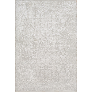 Aisha Light Grey Rectangular: 6 Ft. 7 In. x 9 Ft. 6 In. Rug