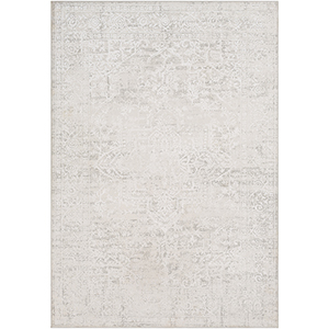 Aisha Light Grey Rectangular: 5 Ft. 3 In. x 7 Ft. 3 In. Rug