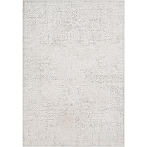 Aisha Light Grey Rectangular: 6 Ft. 7 In. x 9 Ft. 6 In. Rug