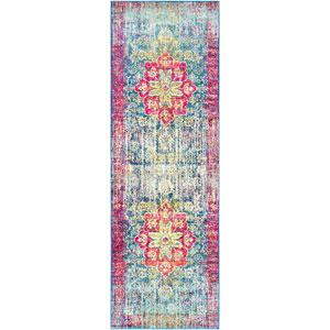 Aura silk Pink Runner: 2 Ft. 7 In. x 7 Ft. 6 In. Rug