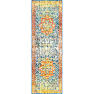 Aura silk Yellow Runner: 2 Ft. 7 In. x 7 Ft. 6 In. Rug