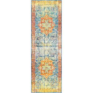 Aura silk Yellow Runner: 2 Ft. 7 In. x 7 Ft. 6 In. Rug
