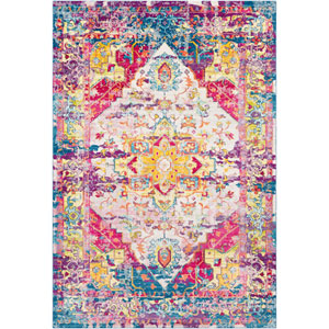 Aura silk Pink Rectangle: 5 Ft. 3 In. x 7 Ft. 6 In. Rug