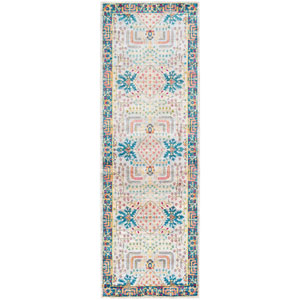 Aura silk Blue Runner: 2 Ft. 7 In. x 7 Ft. 6 In. Rug