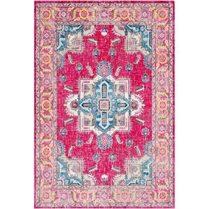 Aura silk Pink Rectangle: 2 Ft. x 3 Ft. Rug