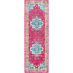 Aura silk Pink Runner: 2 Ft. 7 In. x 7 Ft. 6 In. Rug