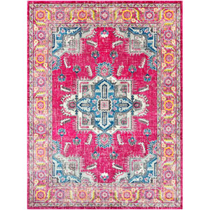 Aura silk Pink Rectangle: 7 Ft. 10 In. x 10 Ft. 3 In. Rug