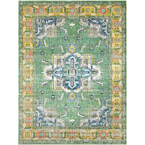 Aura silk Green Rectangle: 7 Ft. 10 In. x 10 Ft. 3 In. Rug
