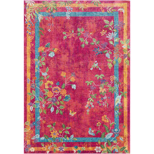 Aura silk Pink Rectangle: 2 Ft. x 3 Ft. Rug