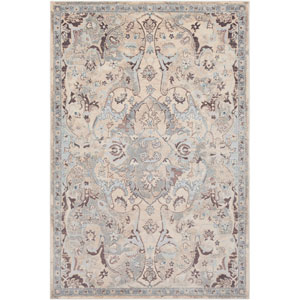 Asia Minor Gray and Blue Rectangle: 2 Ft. x 3 Ft. Rug