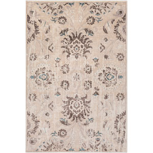 Asia Minor Cream and Brown Rectangle: 2 Ft. x 3 Ft. Rug