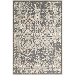 Aesop Grey and Beige Rectangular: 6 Ft. 7 In. x 9 Ft. 6 In. Rug