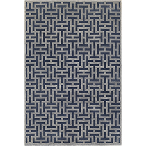 Aesop Blue Rectangular: 6 Ft. 7 In. x 9 Ft. 6 In. Rug