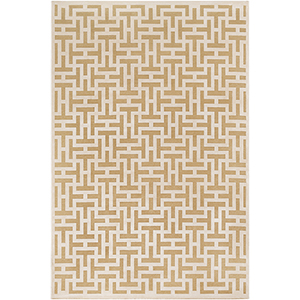 Aesop Beige and Khaki Rectangular: 7 Ft. 10 In. x 10 Ft. 4 In. Rug