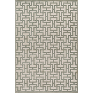 Aesop Sea Foam and Beige Rectangular: 6 Ft. 7 In. x 9 Ft. 6 In. Rug