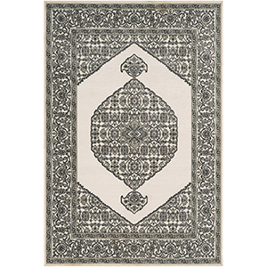 Aesop Sea Foam and Charcoal Rectangular: 6 Ft. 7 In. x 9 Ft. 6 In. Rug