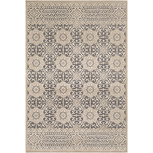 Aesop Beige and Grey Rectangular: 6 Ft. 7 In. x 9 Ft. 6 In. Rug