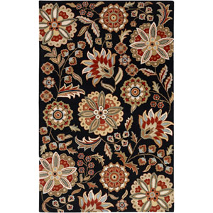 Athena Black and Red Rectangular: 5 Ft. x 8 Ft. Rug