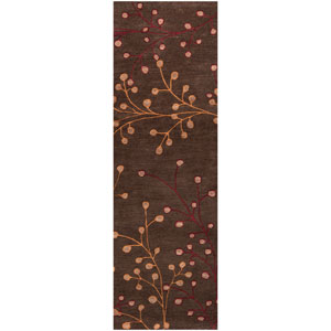 Athena Chocolate Gold and Red Rectangular: 2 ft. 6 in. x 8 ft. Runner