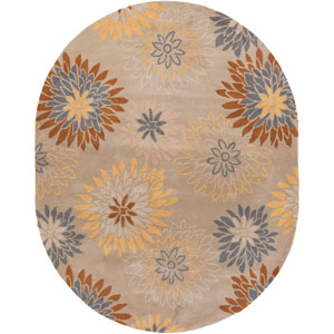 Athena Pussywillow Gray and Frappe Oval: 8 Ft. x 10 Ft. Rug